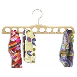 Natural & Chrome Scarf Hanger
