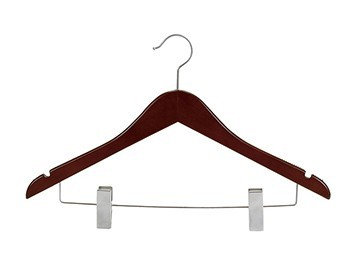 Mahogany & Satin Nickel Wood Hanger Collection
